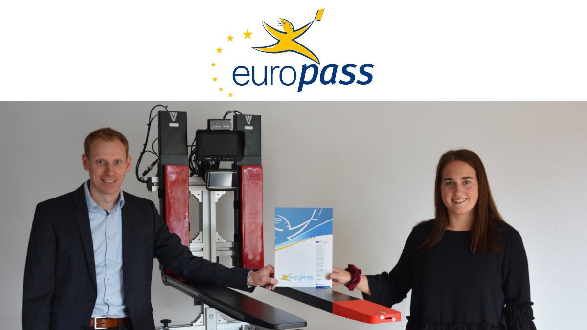 Europass Mobility award at VETTER