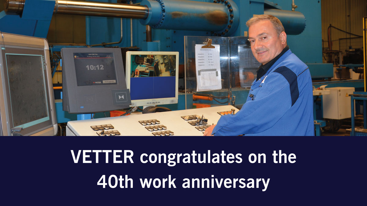 3 questions to Sübhan Daldaban: 40th work anniversary at VETTER