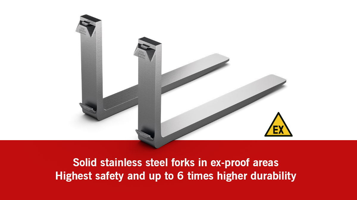 A fork solution that pays off: Solid stainless steel forks for ex-proof areas