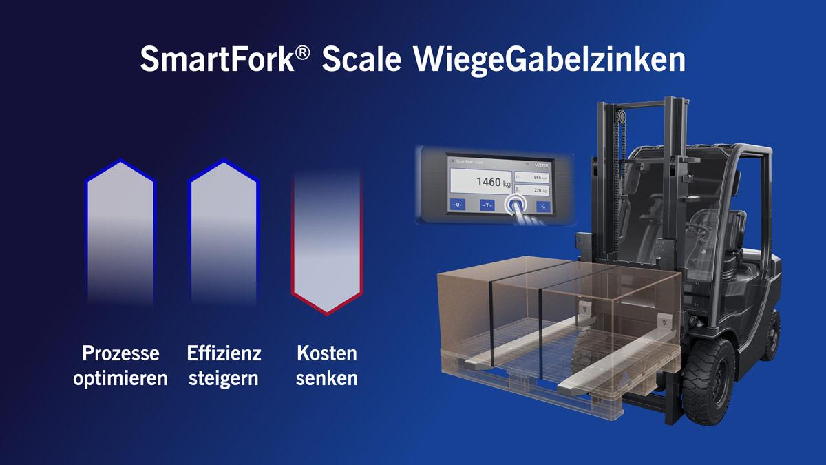 Effizientere Logistikprozesse mit SmartFork Scale WiegeGabelzinken