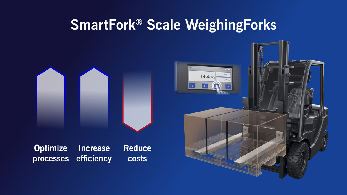 More efficient logistics processes with SmartFork Scale WeighingForks