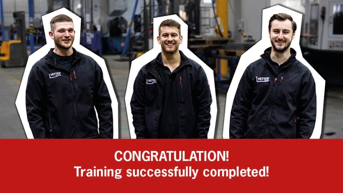 VETTER congratulates!