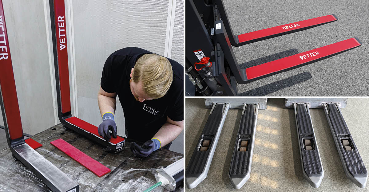 EFFICIENT AND SAFE FORKLIFT USE THANKS TO ANTI-SLIP / ANTI-NOISE COATINGS FROM VETTER
