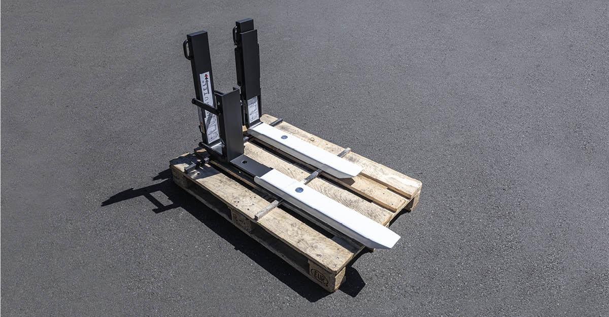 Einfach die passende Gabellänge: Manutel TeleskopGabelzinken mit Klappanschlag