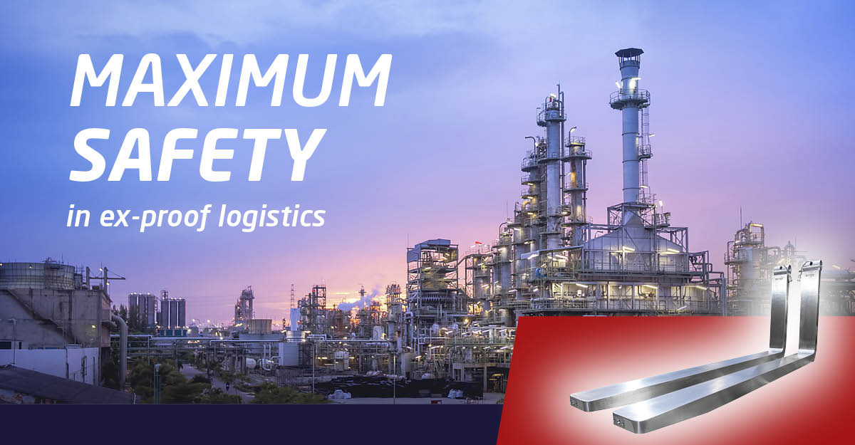 GLOBAL NOVELTY: Maximum safety in ex-proof logistics by SmartFork stainless steel forks